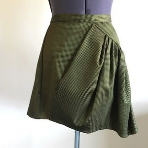 Nanette Lepore Emerald Green Textured Skirt XS 4